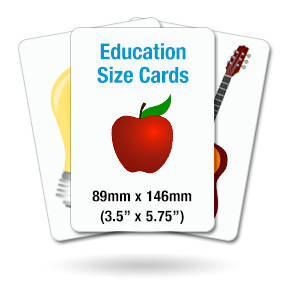 Education Training Size Cards