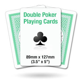 Double Poker Size Playing Cards